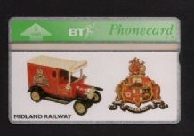 Phonecards BT Telephone card  Midland Railway #074